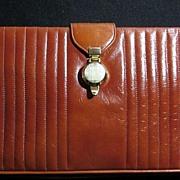 Bienen-Davis 1960-70s Rust Colored Leather Purse