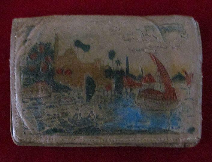 WWII Souvenir EgyptianArtisan Made Leather Wallet
