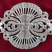 Art Deco Paste Brooch