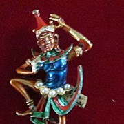 Vintage ART Bali Dancer Enameled Pin