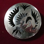 Taxco Sterling Silver Stylized Rooster Pin
