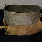 Apple Picker's Galvanized and Canvas Carrier