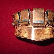 Copper Art Deco Cuff Bracelet