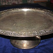 Heintz/Silver Crest Sterling on Bronze Cake Stand