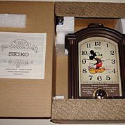 "SOLD 1988 Seiko ""Mickey Mouse"" Carriage Case Musical Alarm Clock"