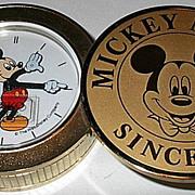 "SOLD 1988 Seiko ""Mickey Mouse"" Travel Alarm Clock"