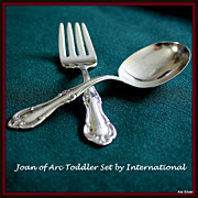 Joan of Arc baby toddler set of spoon and fork by International
