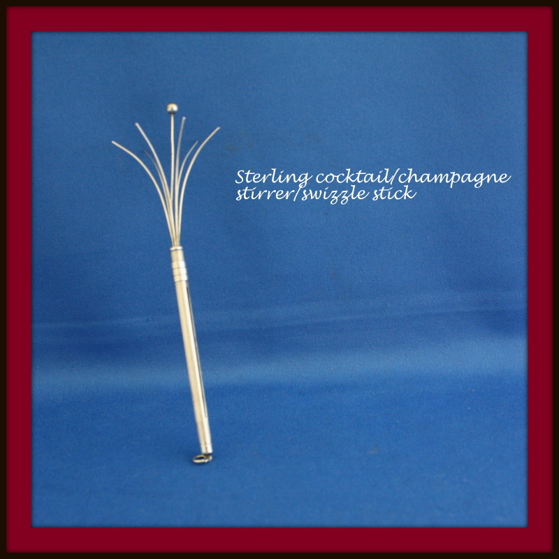 Stirrers in sterling silver which open for the ultimate stir