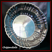 "SALE Sterling bowl 9.5"" in the Chippendale holloware pattern by Gorham"