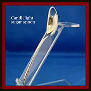 Candlelight sugar spoon in solid sterling by Towle