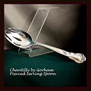 Chantilly pierced tablespoon in sterling by Gorham