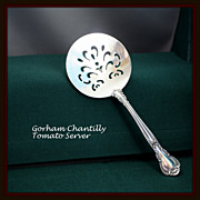 Chantilly tomato server in sterling by Gorham