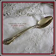 Chantilly oval soup spoon or place spoon in solid sterling by Gorham