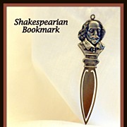 Shakespeare  in his classic pose for a sterling silver bookmark