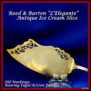 Antique ice cream slice in sterling by Reed & Barton