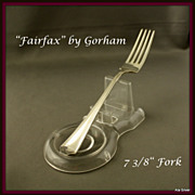 """""""Fairfax """" placed sized fork in sterling by Gorham"""