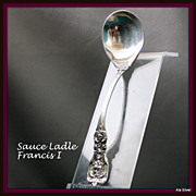 Francis I sauce ladle in sterling silver by Reed & Barton