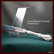Francis I knives, luncheon size, in sterling silver  by Reed & Barton