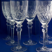 REDUCED Sparkling crystal goblets set of 6 by Rogaska