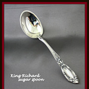 King Richard sterling sugar spoon by Towle