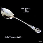 Old Master jelly or preserve knife in solid sterling by Towle Silversmiths