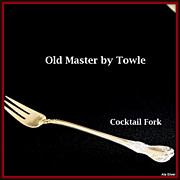 Old Master cocktail fork in solid sterling by Towle Silversmiths
