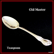 Old Master teaspoon in solid sterling by Towle Silversmiths