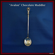 Avalon sterling chocolate muddler/lemonade by International ca 1900