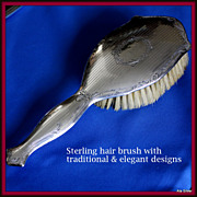 Sterling hair brush to complement any vanity in the bedroom or bath