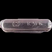 Nice Tiffany Sterling/18k Pocket Knife/Initials RMK