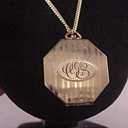 Vintage Deco Style Gold Filled Locket /Chain/Initials