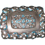 Vintage Sterling/Enamel Belt Buckle