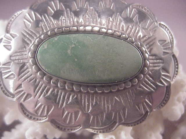 Vintage sterling native american pin green turquoise from for Naugatuck glass company