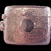 Wonderful Vintage English Sterling Vesta/Match safe/Chased
