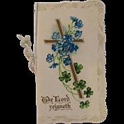 Raphael Tuck & Sons Embossed Easter Greeting Booklet Card