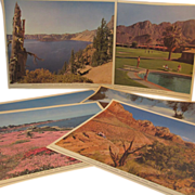 Set of 6 Double Side Union Pacific Railroad Vacation Spot Advertising Pictures
