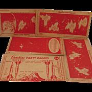 SOLD Set of 5 Sunshine Shredded Wheat Trip to the Moon Game plus 4 Bonus Cards.