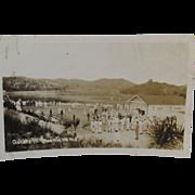 RPPC Ashore in Guantanamo Cuba Military Naval Camp Real Photo Postcard