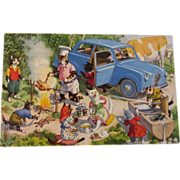 SOLD Alfred Mainzer Dressed Cats Postcard Max Kunzli Illustrated Zurich, Switzerland Cats at a