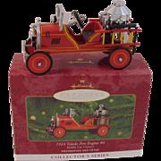 SOLD Toledo Fire Engine # 6 Hallmark Keepsake Ornament Kiddie Car Classics Collector's Series