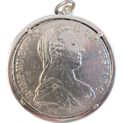SOLD Sliver Coin in a Pendant