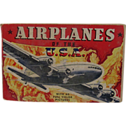 SOLD 1942 Airplanes of the USA ~ Whitman ~ WWII