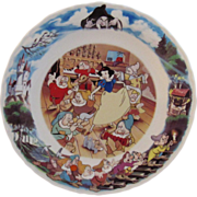 SOLD Wedgwood Snow White and the Seven Dwarfs Bone China Disney Plate
