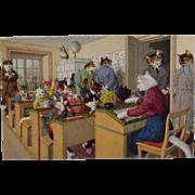 Alfred Mainzer Dressed Cats Postcard Max Kunzli Illustrated Zurich, Switzerland in Art Class