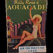 Billy Rose's Aquacade - New York World's Fair 1939 Program Book
