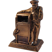 SOLD Vintage Mailman Bank with Key