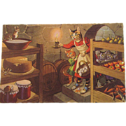 SOLD Alfred Mainzer Dressed Cats Postcard Cats in the Cold Cellar