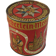 Vintage German Haeberlein-Metzger Biscuit or Candy Tin
