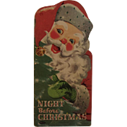SOLD 1958 Night Before Christmas Whitman Book Illustrated by Florence Sarah Winship Oversized