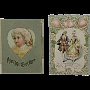 2 Edwardian Die Cut Valentines Love Cards